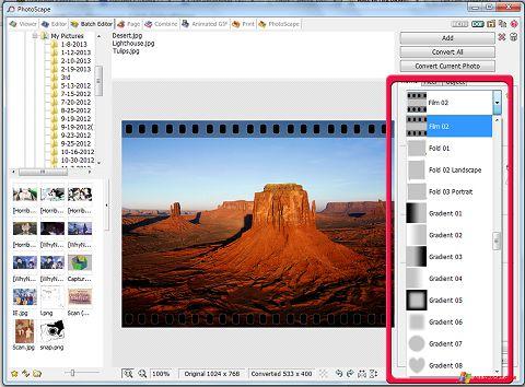 Screenshot PhotoScape Windows XP