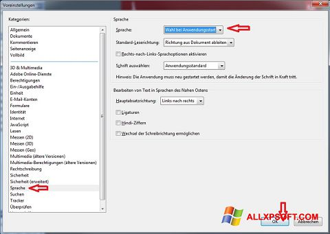 Screenshot Adobe Reader Windows XP