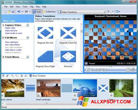Screenshot Windows Movie Maker Windows XP