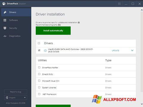 Screenshot DriverPack Solution Windows XP