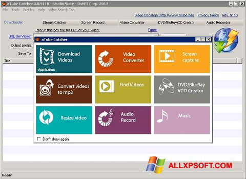 Screenshot aTube Catcher Windows XP