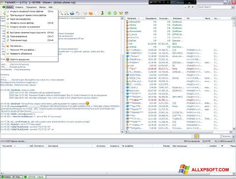 Screenshot FlylinkDC++ Windows XP