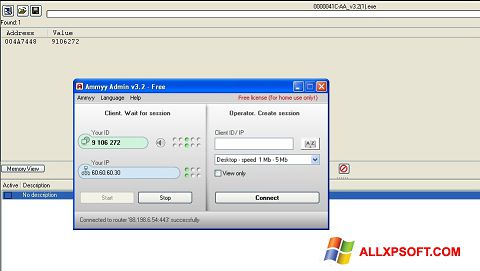 Screenshot Ammyy Admin Windows XP