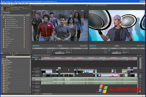 Screenshot Adobe Premiere Pro Windows XP