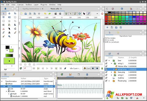 Screenshot Synfig Studio Windows XP