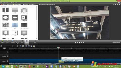 Screenshot Camtasia Studio Windows XP