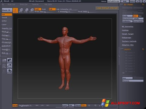 Screenshot ZBrush Windows XP